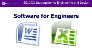 Lab 1 - Software for Engineers