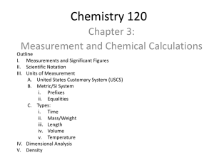 Measurement and Chemical Calculations