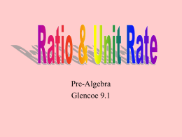 Ratio & Unit Rate