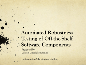 Automated Robustness Testing