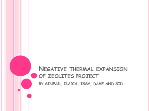 Negative thermal expansion project