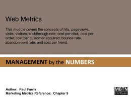 Web Metrics - Management By The Numbers