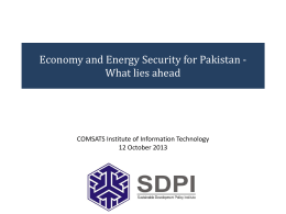 Energy COMSATS 12 Oct 13 - COMSATS Institute of Information