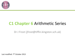 Slides: C1 Chapter 6 - Sequences