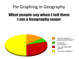 Pie Graphing in Geography