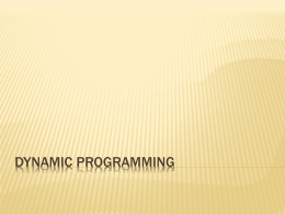 Dynamic Programming : Multistage Graph Problem
