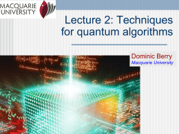 Lecture 2: Techniques for quantum algorithms