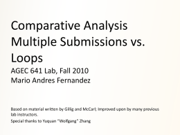 Comparative Analysis: Multiple Submissions and Loops