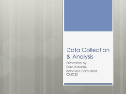 Data Collection & Analysis - FBA