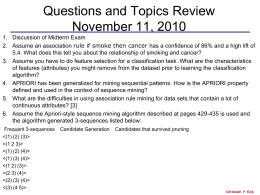 Review Questions for November 11