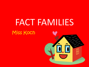 Miss Koch`s Fact Families