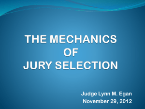 the mechanics of jury selection
