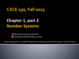 Chapter 1 - University of Nebraska–Lincoln