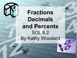 Fractions, Decimals, and Percents (ppt)