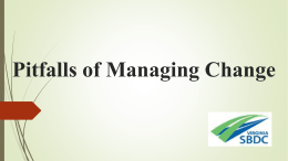 Pitfalls of Managing Change