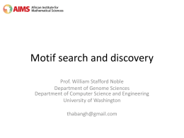 Motif p-values - University of Washington