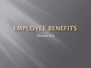 6.4 Employee Benefits