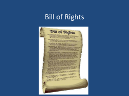 Bill of Rights - Mountain View Middle School