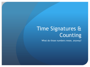 Time Signatures & Counting PowerPoint