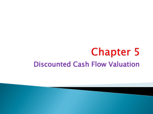 Chapter 05 Discounted Cash Flow Valuation