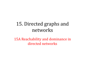 15A Reachability and dominance