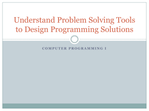 Problem Solving Tools PPT - Programming Wiki