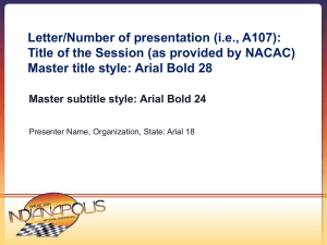 NACAC PowerPoint Template