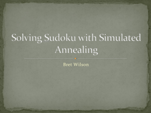 Solving Sudoku with Simulated Annealing