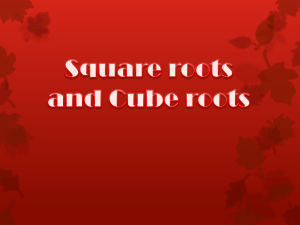Square Roots - Primary Resources