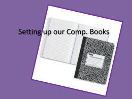 set up comp. books
