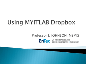 MyITLab DROPBOX Folder