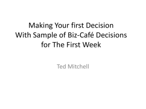 01-First-Decision - Welcome to Prospect Learning