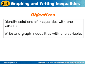 Graph and Solve One