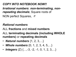 Worksheets Rational And Irrational Numbers Worksheets rational irrational s monday 35 numbers