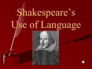 Shakespeare`s Language PPT