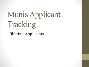 Munis Applicant Tracking
