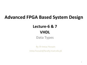VHDL Data Types - Dr. Imtiaz Hussain