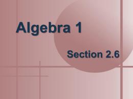 x - Mrs. Andrews` CBA classes