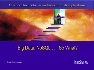 NoSQL_AND_Big_Data - GlobalsDB