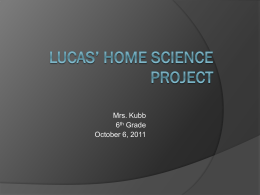 Lucas` home science project