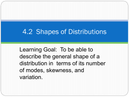 4.2 Shapes of Distributions