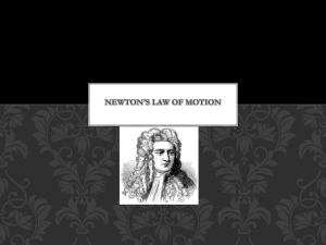 Newton`s Law of Motion