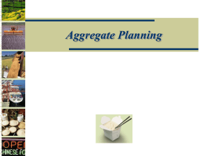 Aggregate Planning – Copy