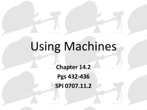 14.2 -- Using Machines