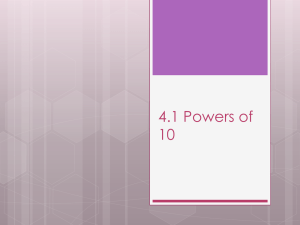 4.1 Powers of 10