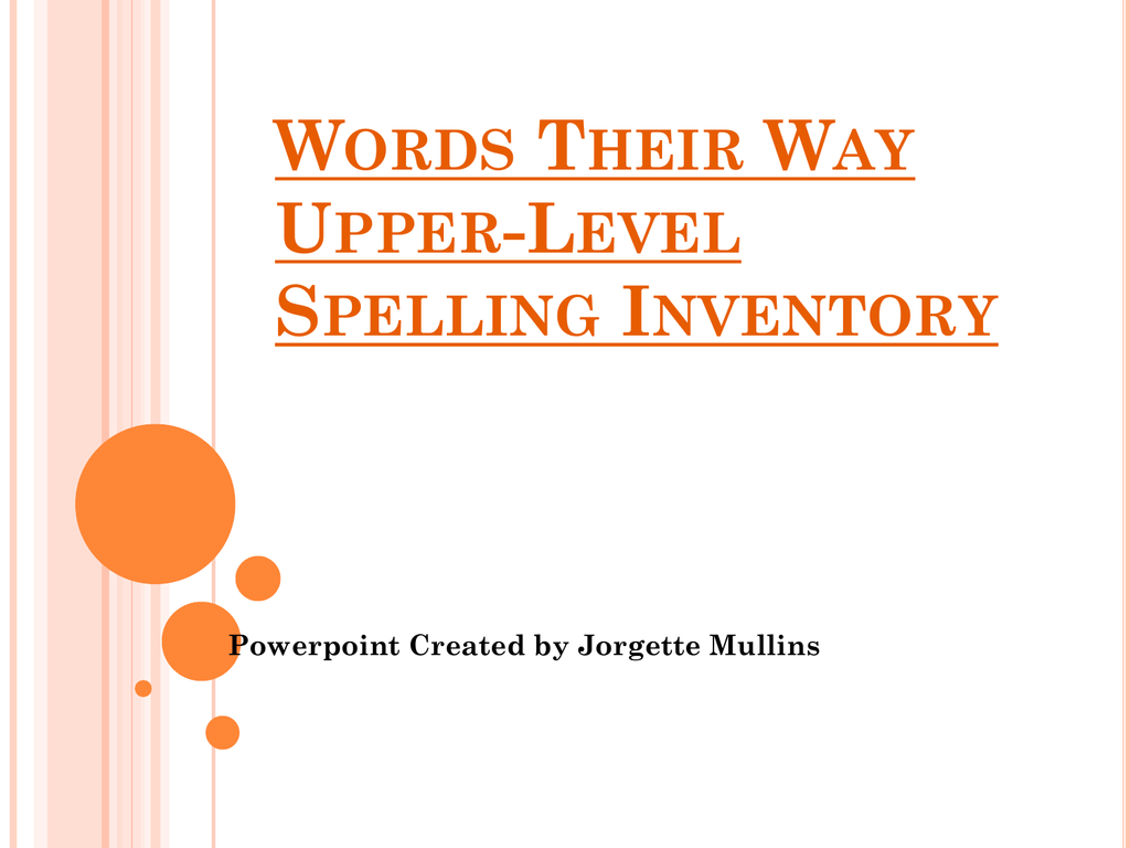 words their way inventory