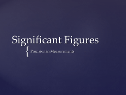 Significant Figures - science9-wmci