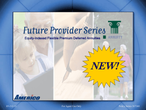 Americo Future Provider Series Power Point