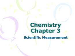 Pre – AP Chemistry Chapter 2
