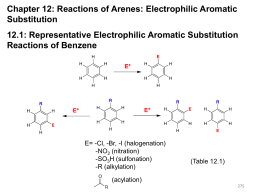 Substituent Effects in Electrophilic Aromatic Substitution